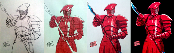 An Elite Praetorian Guard from STAR WARS: THE LAST JEDI
