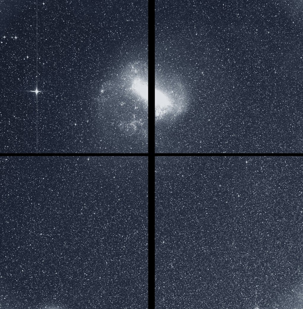 A test image showing 200,000 stars in the southern constellation Centaurus, as seen by one of the four science cameras aboard NASA's Transiting Exoplanet Survey Satellite (TESS) in May of 2018