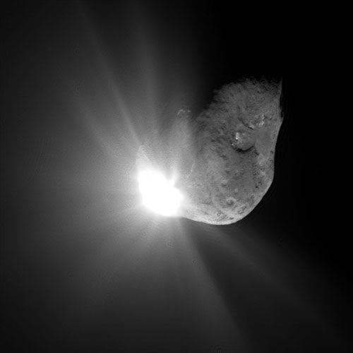 The comet (named 9P/Tempel 1) that the Impactor smashed into during the Deep Impact mission