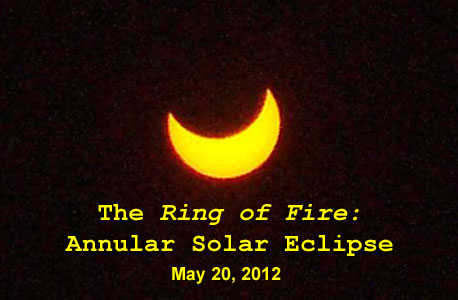 The annular solar eclipse that took place on May 20, 2012.