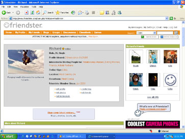 My Friendster homepage