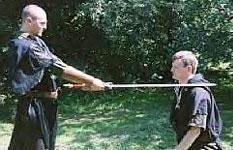 A knighting ceremony.