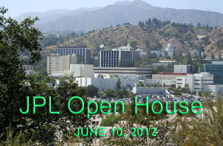 A glimpse of NASA's Jet Propulsion Laboratory from up the road.